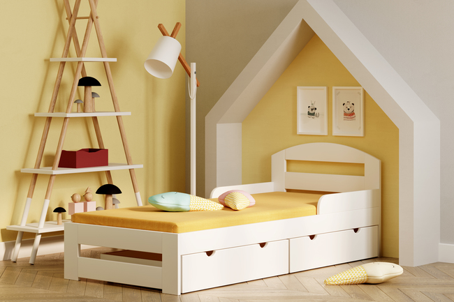 łóżko z szufladami dla dzieci