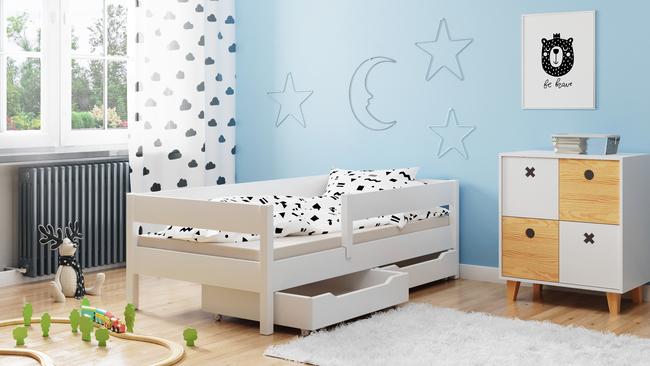 Łóżko pojedyncze kolor biały