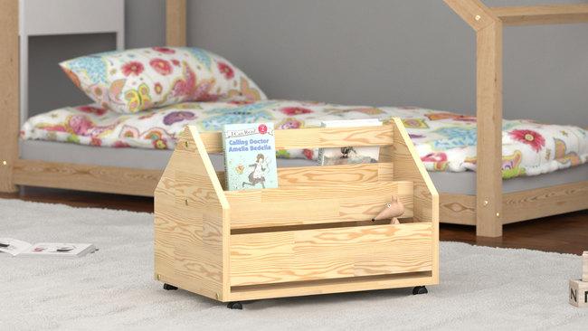drewniane skrzynie na zabawki