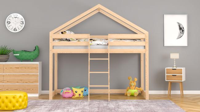 Łóżko dziecięce domek na antresoli Lasse