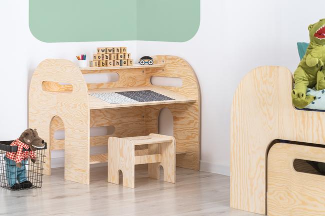 meble ze sklejki, eko meble, meble dziecięce, biurko dziecięce, biurko dla dzieci,