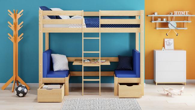 łóżko Antresola Z Biurkiem Mila