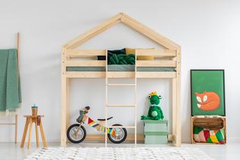 Łóżko domek Lasse na antresoli