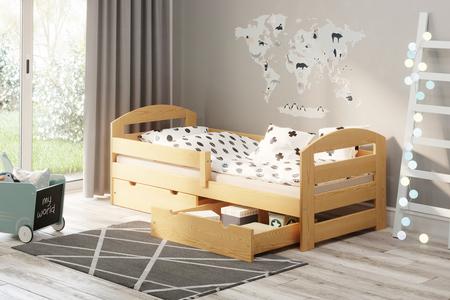 Łóżko dla dzieci lakier bezbarwny