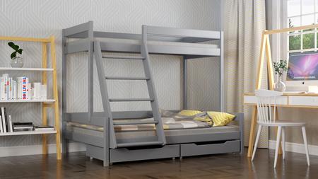 łóżko piętrowe lite drewno