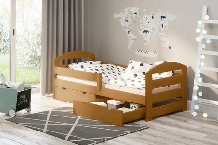 Łóżko dla dzieci z szufladami