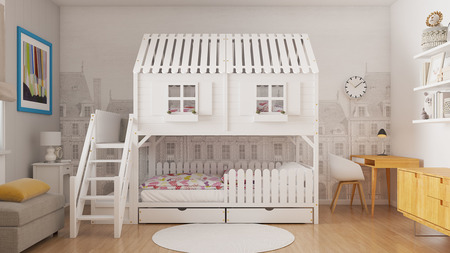 łóżko piętrowe, łóżko dla dzieci, łóżko domek, łóżka piętrowe, łóżka dziecięce