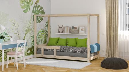 skandynawskie łóżka, łóżko dla dzieci, łóżko pojedyncze, łóżka eko, łóżka w skandynawskim stylu, łóżko domek, łóżko w kształcie domku, łóżko z baldachimem