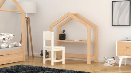 biurko w kształcie domku
