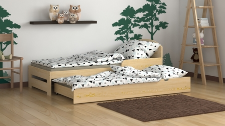 łóżko z dostawką