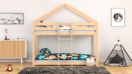 Łóżko piętrowe dla dzieci domek