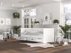 łóżko dziecięce, podwójne łóżko, rozkładane łóżko dla dzieci, leżanka, meble do pokoju dziecięcego