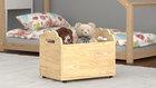 skrzynie na zabawki na kółkach, drewniane
