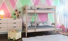 Łóżko piętrowe z litego drewna