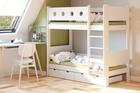 Białe łóżko piętrowe dla dzieci