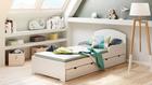 Łóżko dla dziecka w kolorze białym