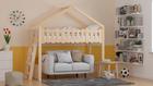 łóżko w kształcie domku