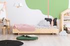 łóżko w skandynawskim stylu