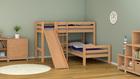 piętrowe łózko dla dzieci lakierowane z litego drewna